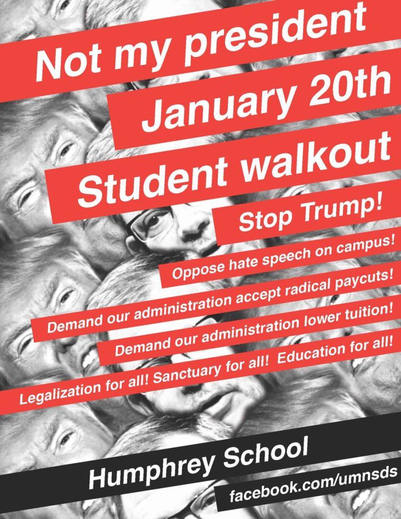 UMN STUDENT WALK OUT